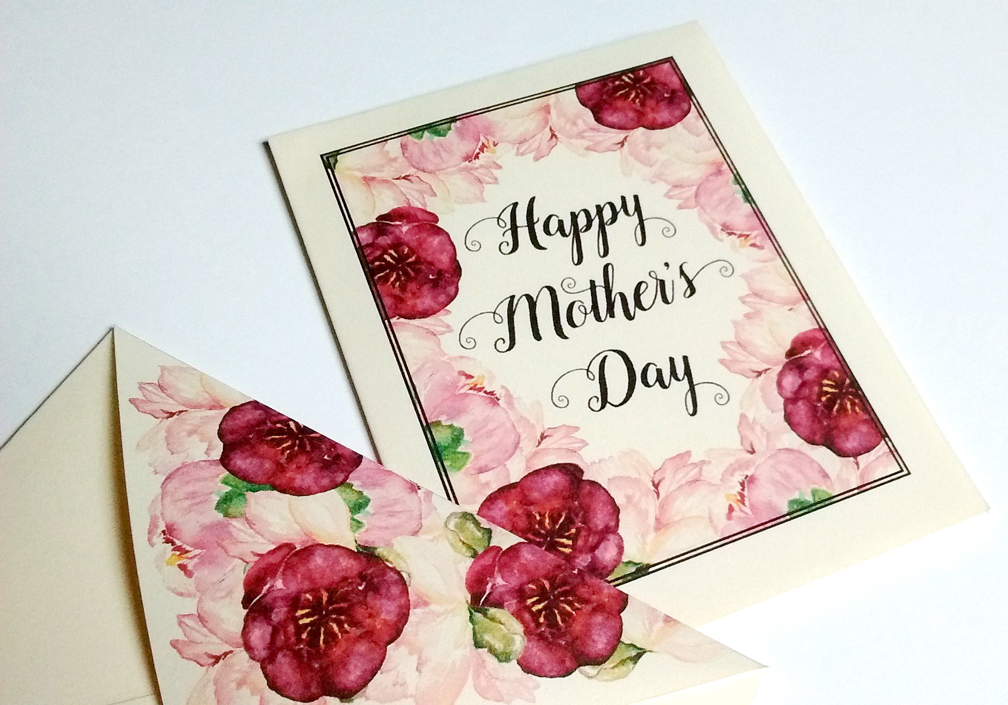 mini mother 39 s day card free printable with envelope beautifularrow. Black Bedroom Furniture Sets. Home Design Ideas